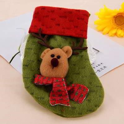 deer pattern decorated socks shape - Christmas event
