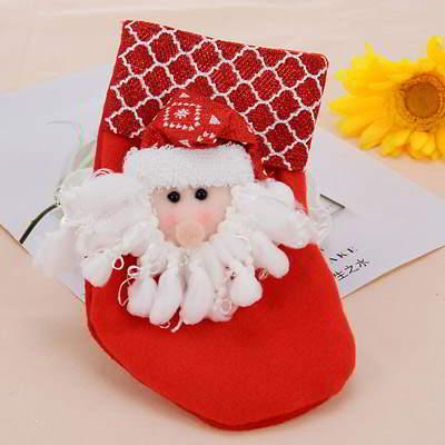 santa claus pattern decorated socks shape - Christmas event