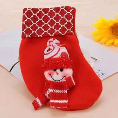 snowman pattern decorated socks shape - Christmas event