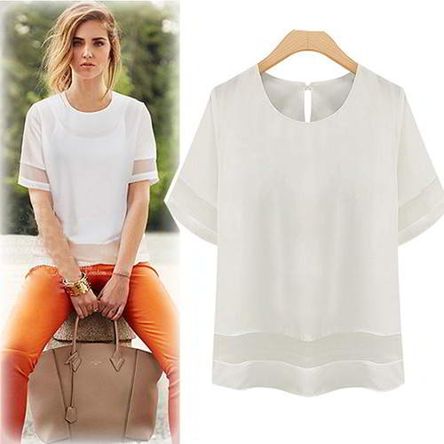 pure color short sleeve large size T shirt