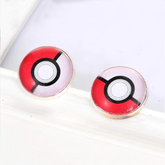 Anting Tusuk Pokemon Color Matching Round Earring