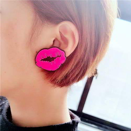 Acrylic Earrings Red