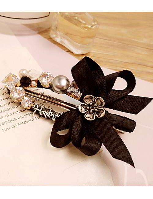 Forever21 bowknot rose diamond hairpin