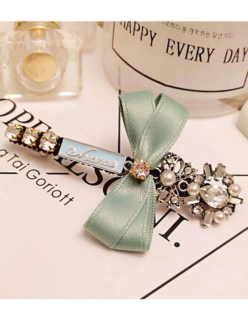 Forever21 bowknot letter diamond hairpin