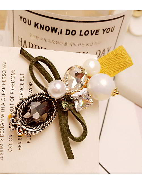 Forever21 pearls bowknot duckbilled hairpin