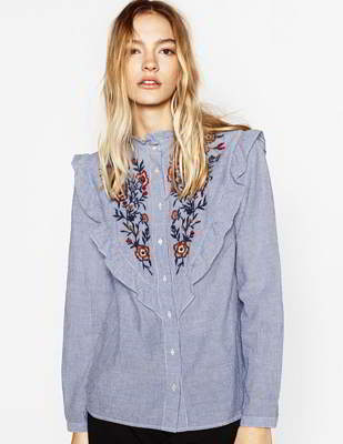 lacework long sleeved shirt