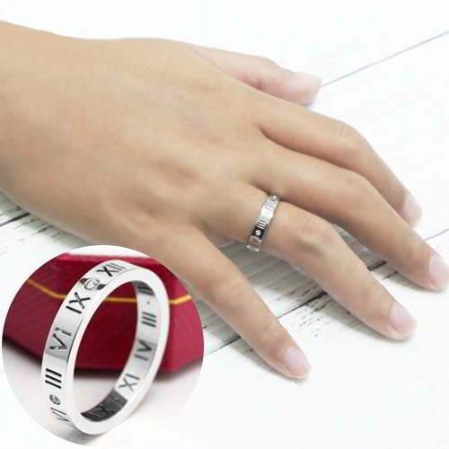 18K Titanium Steel Rose Gold Ring Teeth Retention
