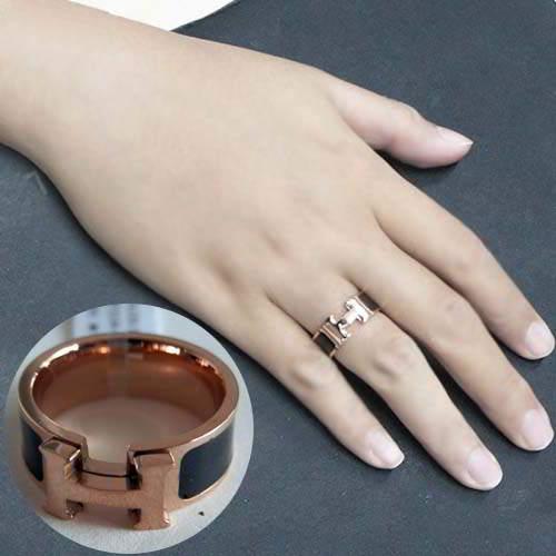 titanium ring 18k rose gold female