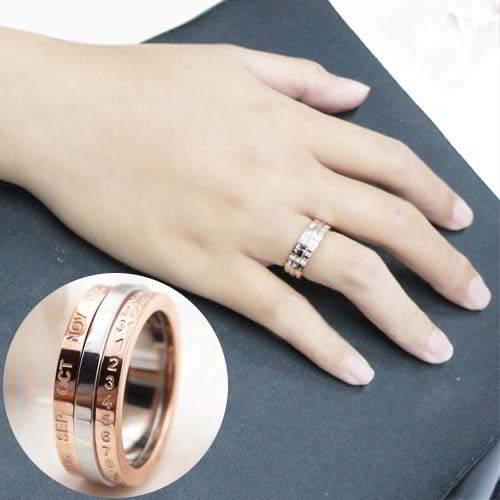 Titanium Steel Rose Gold Ring Fashion