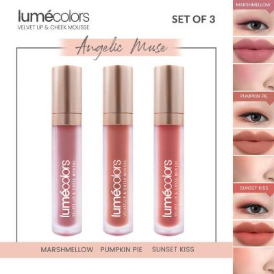 Lumecolors Velvet Lip & Cheek Mousse Angelic Muse - Set of3