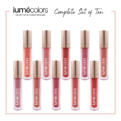 Lumecolors Velvet Lip & Cheek Mousse - Complete Set of 10