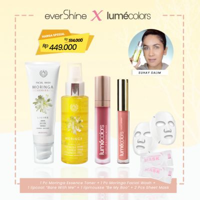 Lumecolors x Evershine Paket Infused Wajah Moringa Series