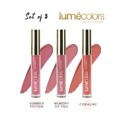 Lumecolors velvet lipcoat - Exotic Nude Set Of 3