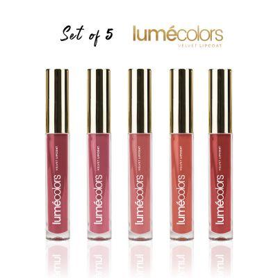Lumecolors velvet lipcoat - Exotic Set Of 5