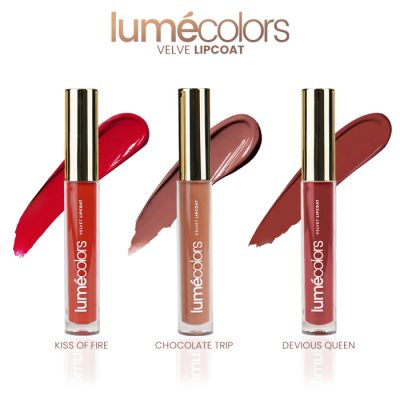 Lumecolors velvet lipcoat Rosebud Nudes Collection (set of 3)