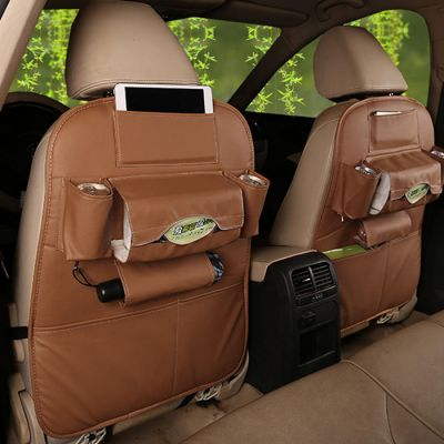 Leather Premium Auto Car Organizer Tas Jok Kulit Mobil (1pcs)